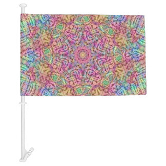 Techno Colors Pattern  Customizable Car Flags