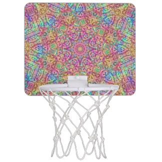 Techno Colors Pattern Mini Basketball Goal Mini Basketball Hoop