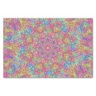 Techno Colors Pattern Tissue Paper, White Tissue Paper