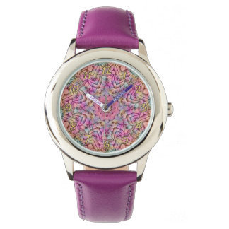 Techno Colors Pattern Vintage Kids Watch