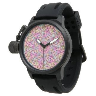 Techno Colors Pattern   Vintage Mens Watch