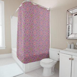 Techno Colors Purple Vintage  Shower Curtain