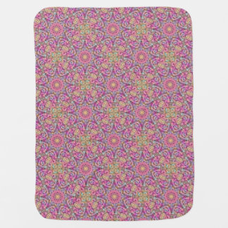 Techno Colors  Tiled Design Baby Blankets