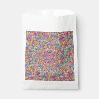 Techno Colors Vintage Kaleidoscope  Favor Bags