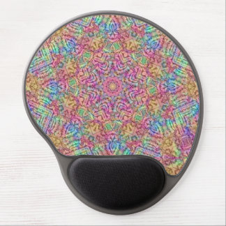 Techno Colors  Vintage Kaleidoscope Gel Mousepad Gel Mouse Mat