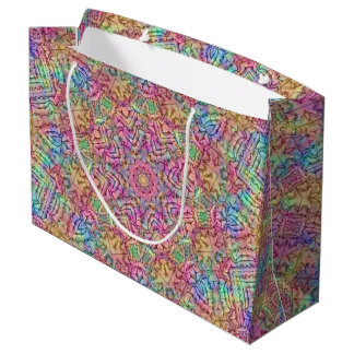 Techno Colors Vintage Kaleidoscope  Gift Bags