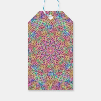 Techno Colors Vintage Kaleidoscope  Gift Tags