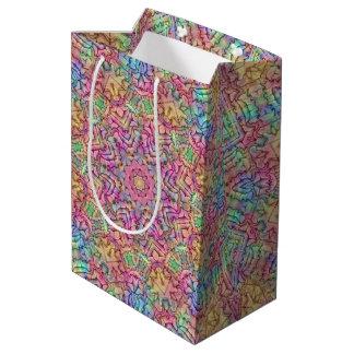 Techno Colors Vintage Kaleidoscope Medium Gift Bag