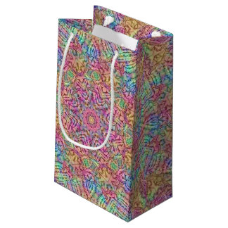 Techno Colors Vintage Kaleidoscope Small Gift Bag