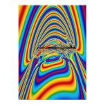 Techno colour yawn invitations
