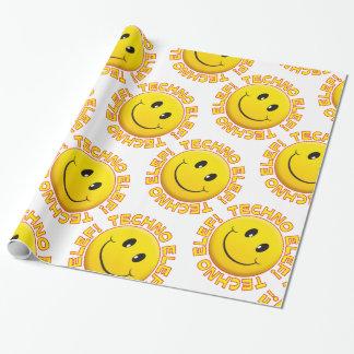 Techno elef wrapping paper