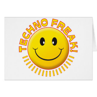 Techno Freak Smile Greeting Card