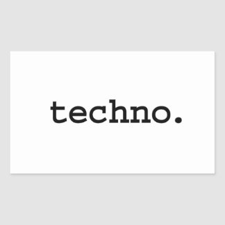 techno. rectangular sticker