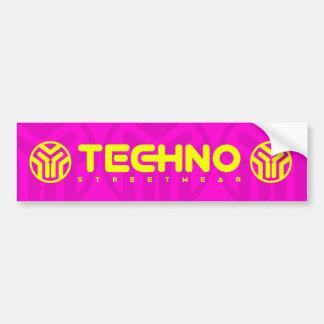 Techno Streetwear - Logo - Sticker