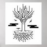 Techno Tree Poster