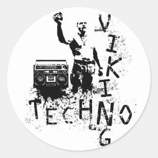 Techno Viking Classic Round Sticker