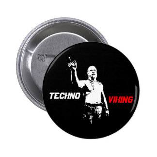Techno Viking Pen 6 Cm Round Badge
