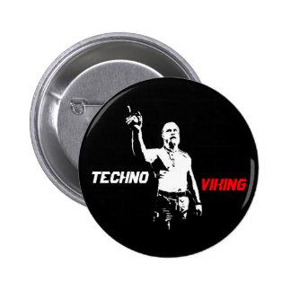 Techno Viking Pen 6 Cm Round Badge