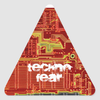 Technofear warning sticker