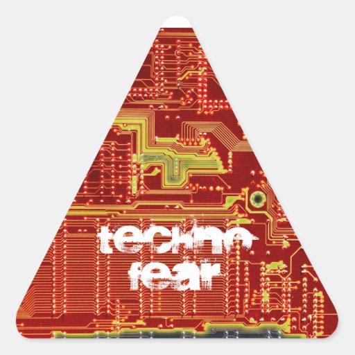 Technofear warning sticker