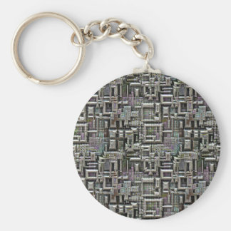 Technological Innovation Basic Round Button Key Ring