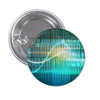 Technology Concept with Online Media Abstract Art 3 Cm Round Badge