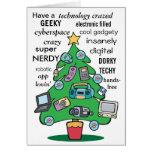 technology digital geeky christmas card