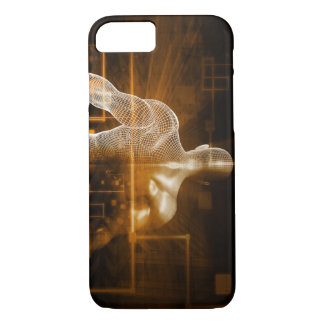 Technology Network with Futuristic Graph Chart iPhone 7 Case