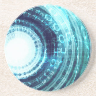 Technology Portal with Digital Circle Access Drink Coaster