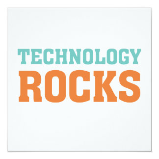 Technology Rocks 13 Cm X 13 Cm Square Invitation Card