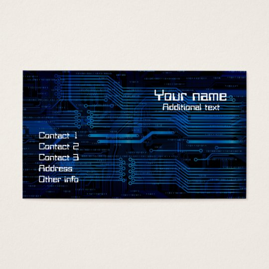 Technology style business card