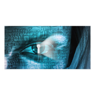 Techology Eye Customized Photo Card