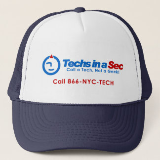 Techs In A Sec NYC Style Trucker Hat