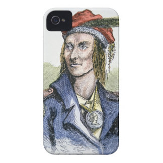 Tecumseh (1768-1813) (coloured engraving) iPhone 4 cover