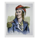 Tecumseh (1768-1813) (coloured engraving) posters