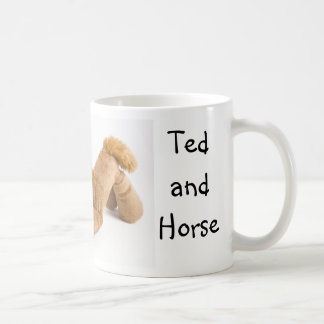 Ted and Horse domino game ... mug