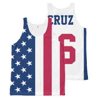 Ted Cruz 2016 for President American Flag All-Over Print Tank Top