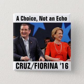 Ted Cruz Carly Fiorina 2016 15 Cm Square Badge