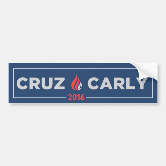 Ted Cruz Carly Fiorina Bumper Sticker Blue