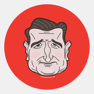 Ted Cruz Cartoon Face Sticker