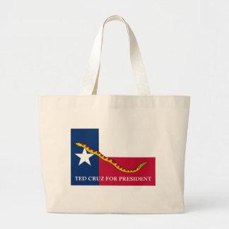 Ted Cruz for president Navy Jack Jumbo Tote Bag