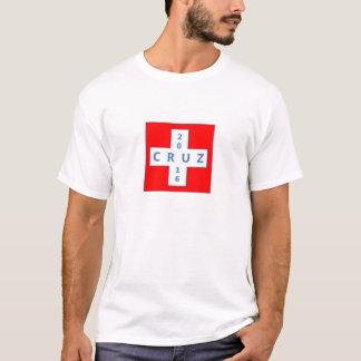 Ted Cruz for President Tshirt with CRUZ 2016 cross