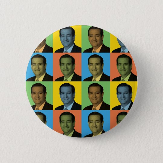 Ted Cruz Pop-Art 6 Cm Round Badge