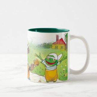Ted, Ed and Caroll The Picnic 1 Two-Tone Coffee Mug