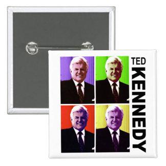 Ted Kennedy - Pop Art Button
