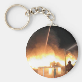 Ted s Garage Fire Clinton IL Easter 2013 Keychain