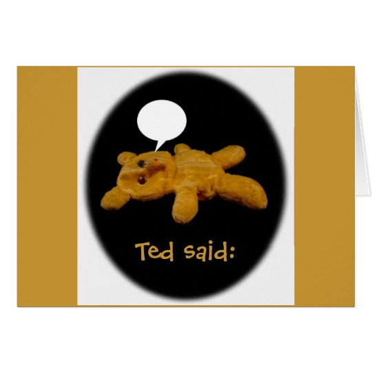 Ted said: Funny Thanksgiving Card