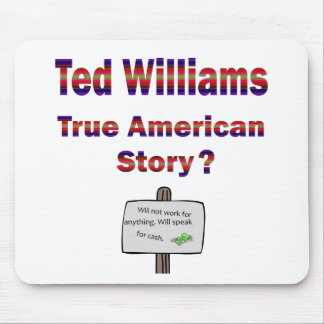 Ted Williams True American Story Mouse Pads
