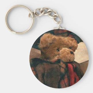 Teddie Bear Basic Round Button Key Ring