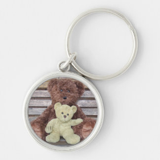 Teddies Silver-Colored Round Key Ring